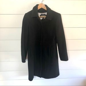 MARVIN RICHARDS 100% Wool Fitted Pea Coat Size M